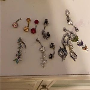 Lot of belly button rings bundle